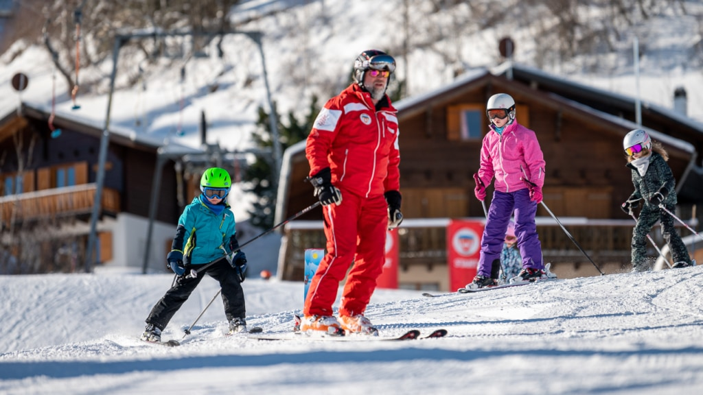 Gruppenunterricht Skischule Unterbäch