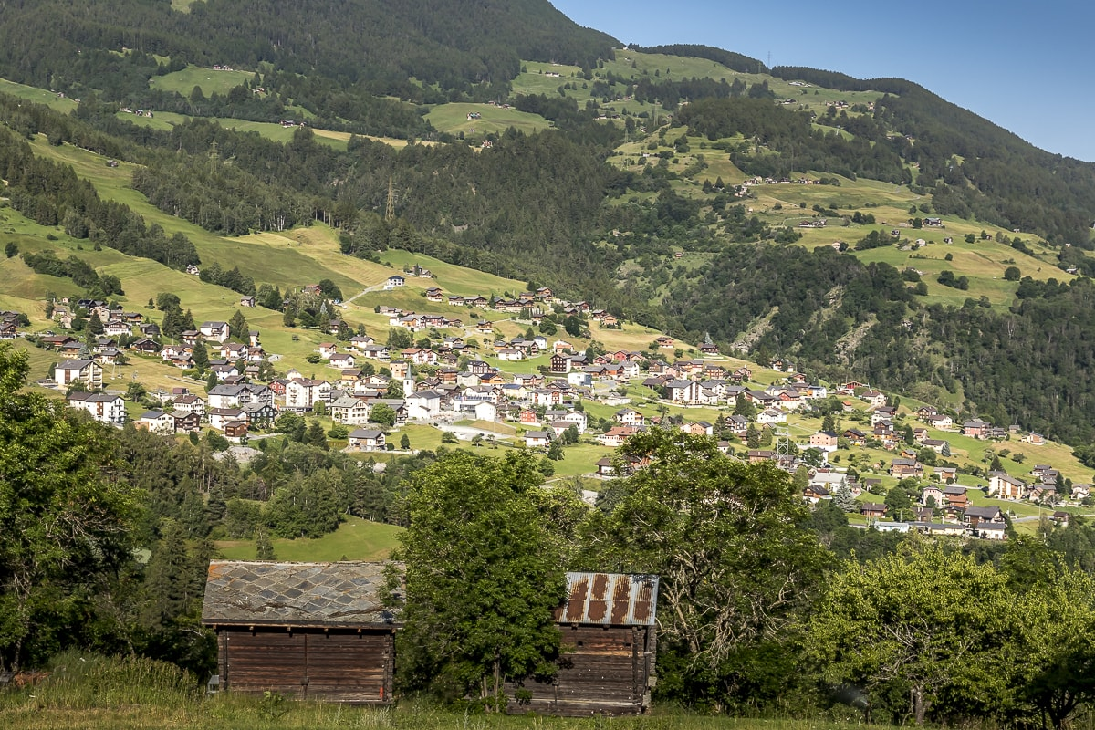 Dorf Unterbäch