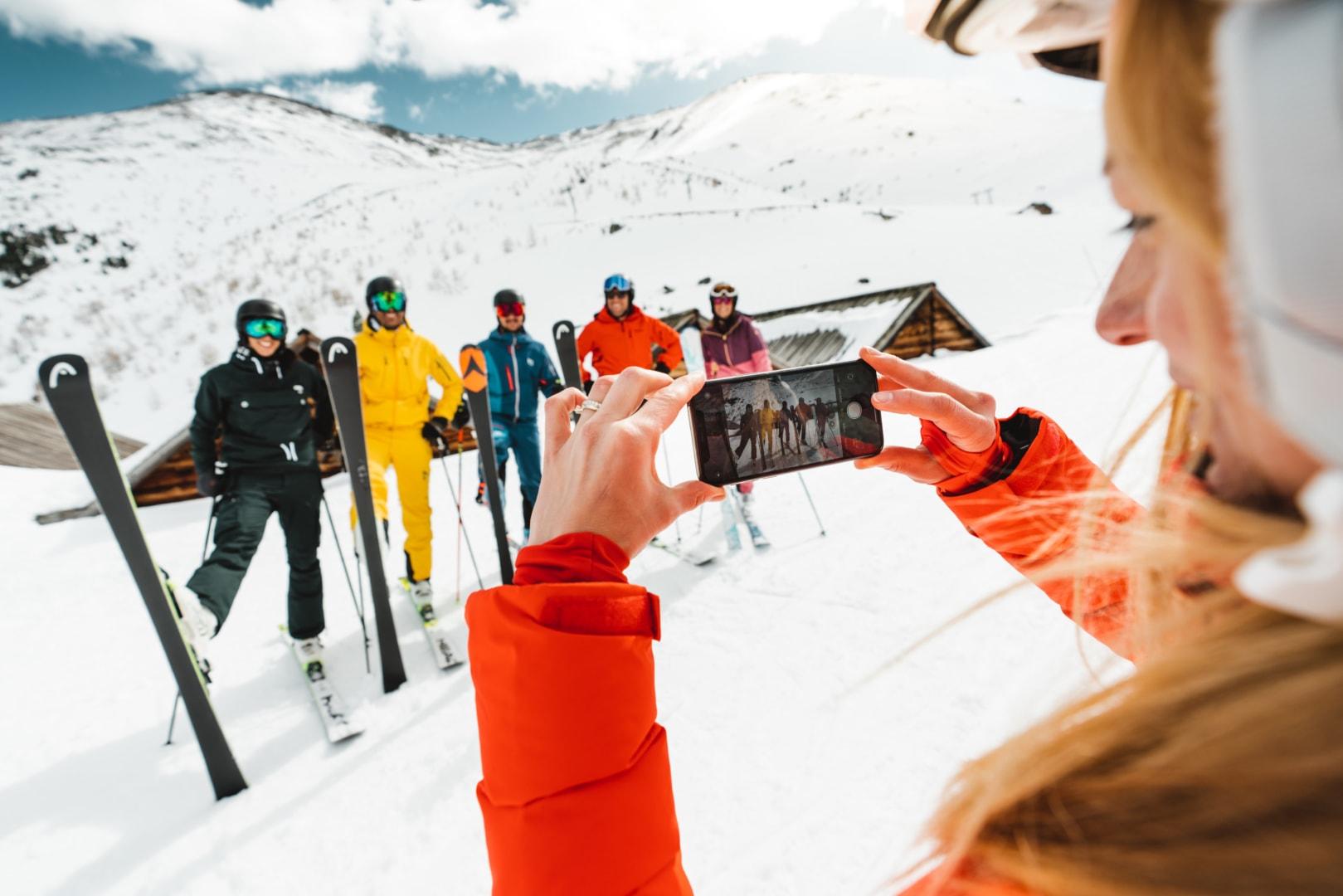 Selfie Skigebiet Unterbäch