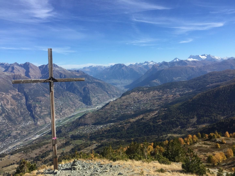 Gipfel Ergischhorn im Herbst